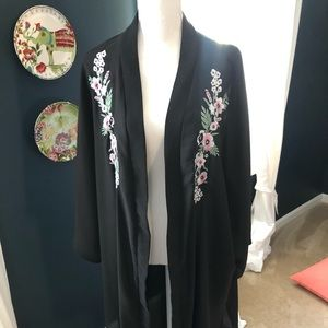 ASOS Curve Sheer Floral Duster